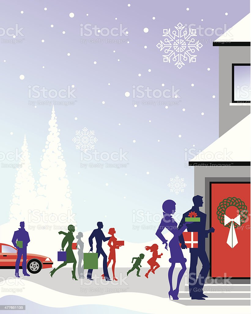 People Gifts House royalty-free stock vector art