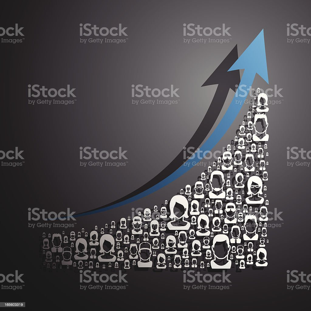 people graph royalty-free stock vector art