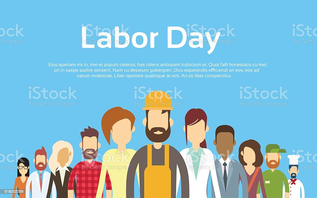 People Group Different Occupation Set, International Labor Day vector art illustration
