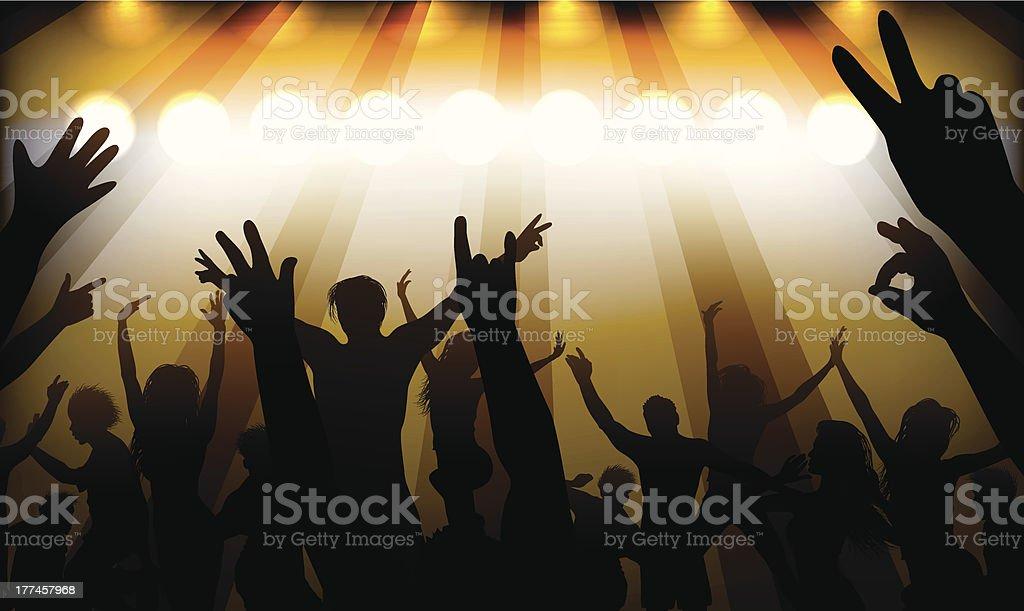 people having fun at concert royalty-free stock vector art
