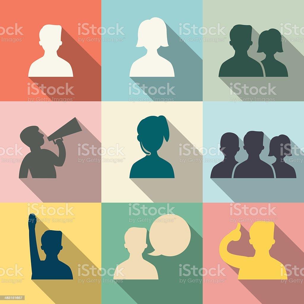 people icon vector art illustration