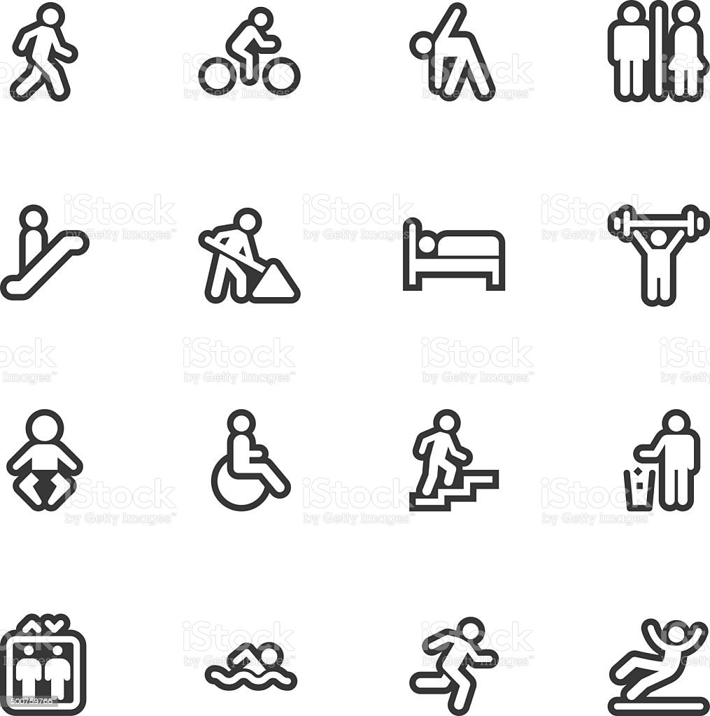 People icons - Regular Outline vector art illustration