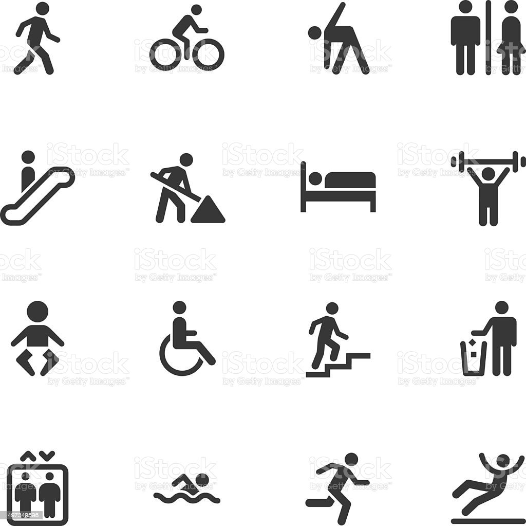 People icons - Regular vector art illustration
