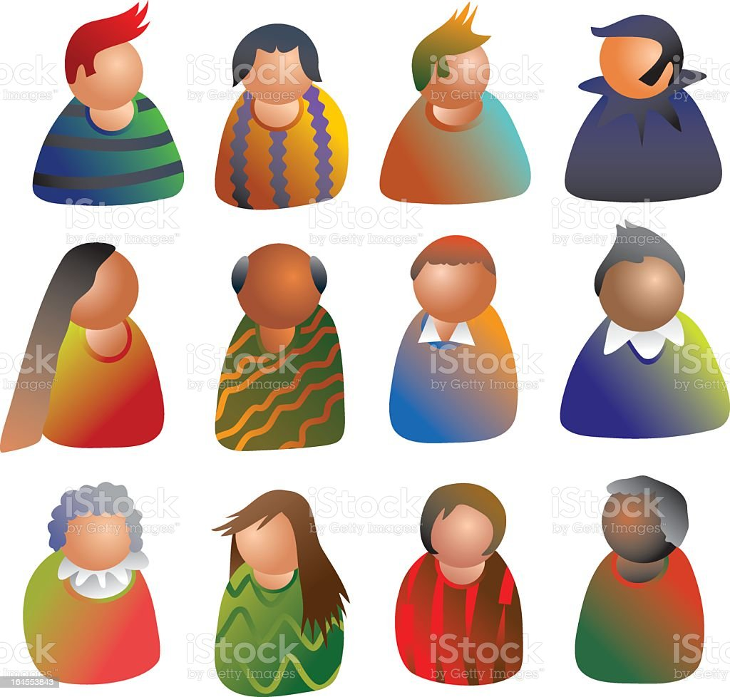 people icons royalty-free stock vector art