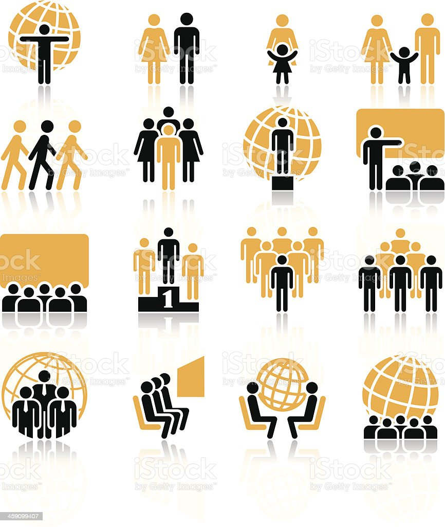 People, icons vector art illustration