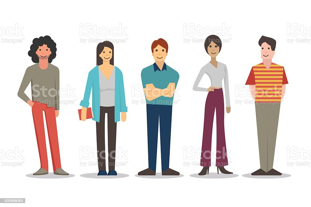 People in lifestyle vector art illustration