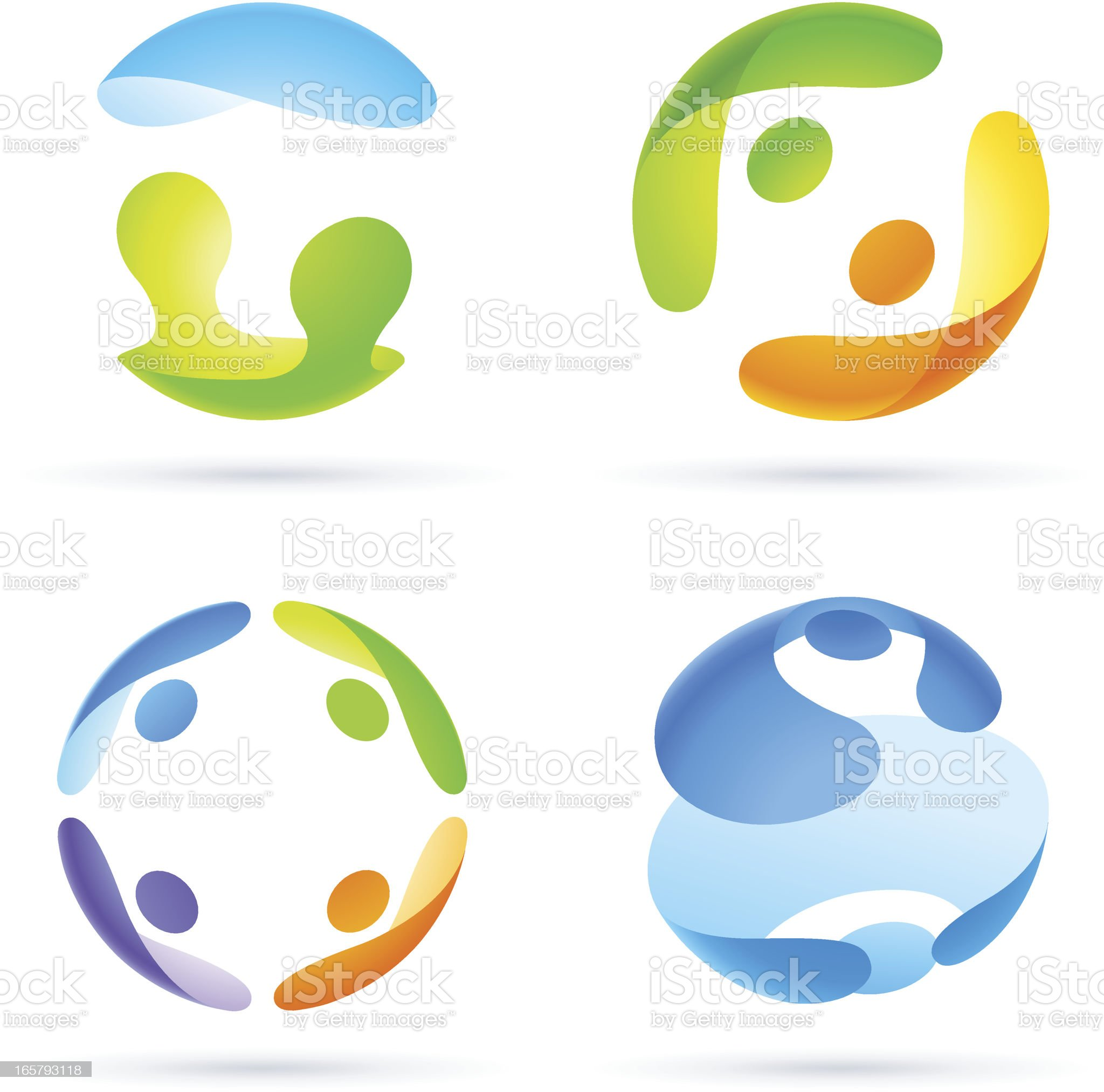 People in Sphere #11 royalty-free stock vector art
