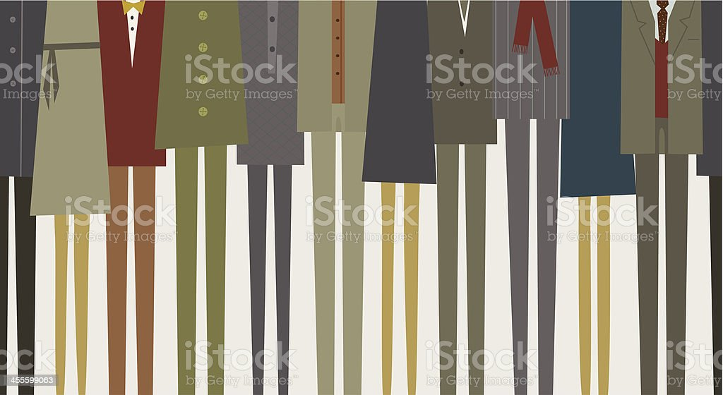 People in suits vector art illustration