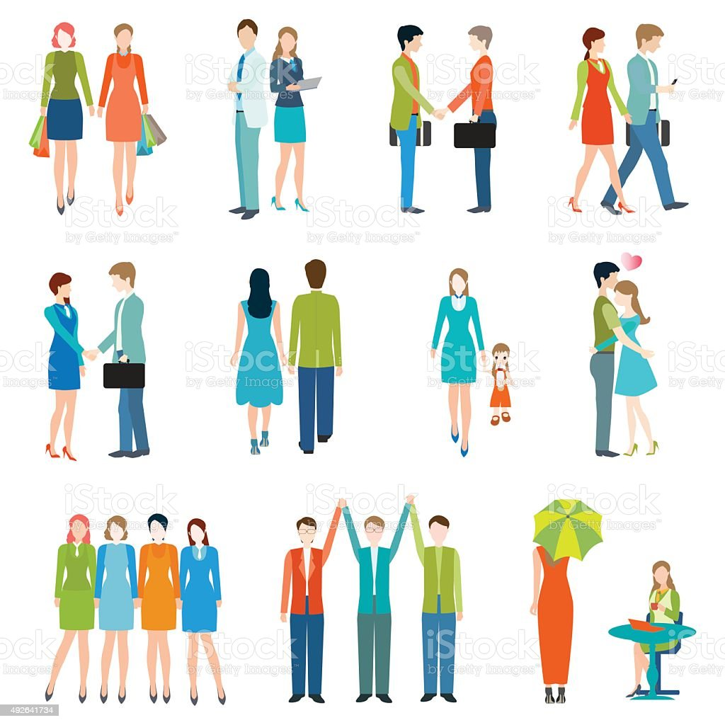 People in various lifestyles. vector art illustration