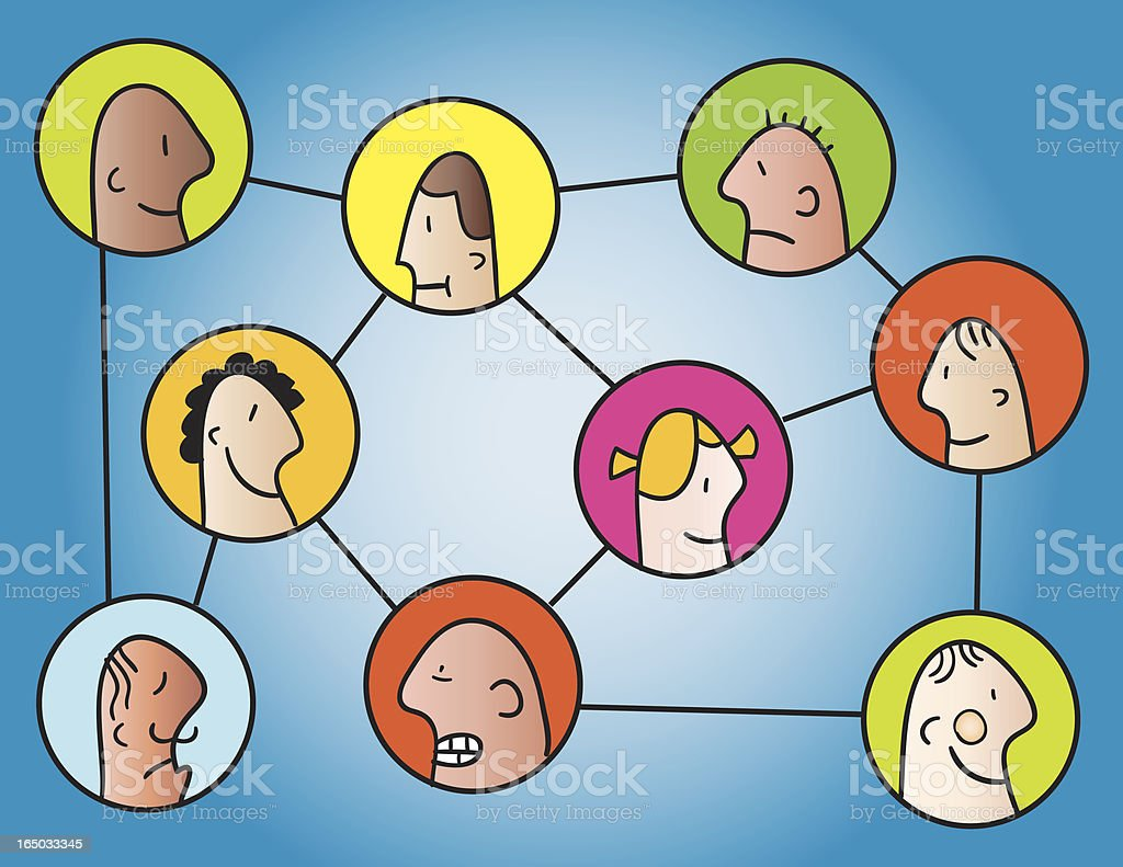 People Network Connections royalty-free stock vector art