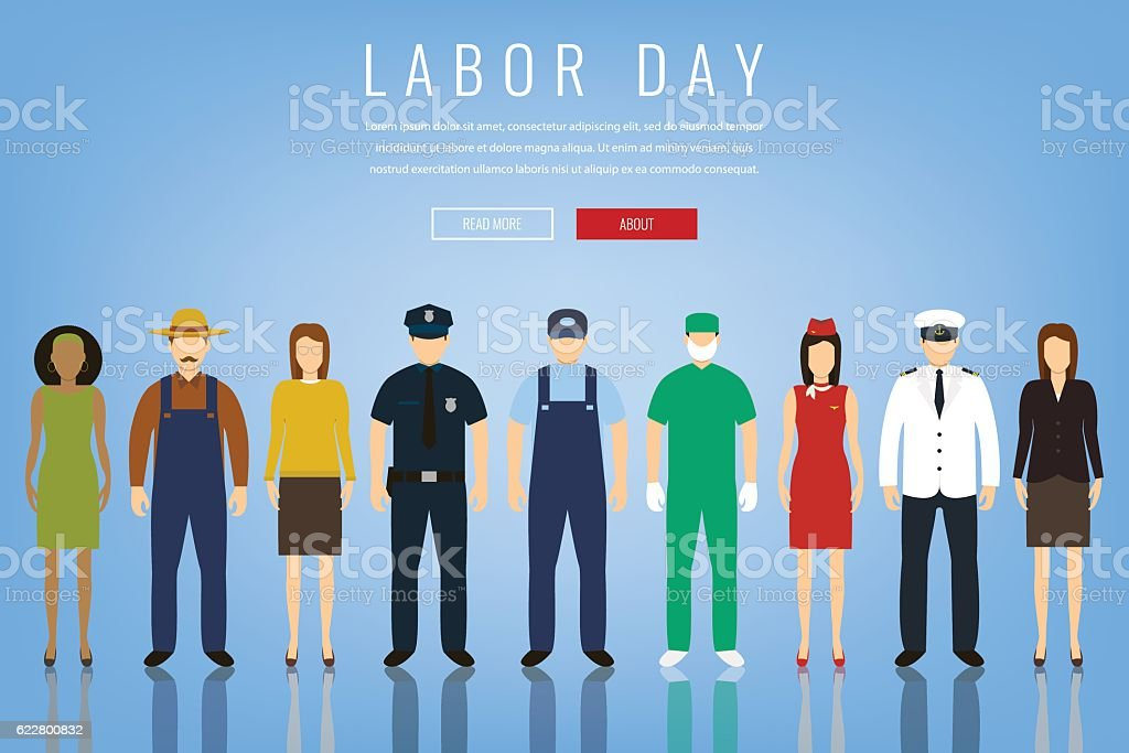 People of different occupations. Professions set. International Labor Day. royalty-free stock vector art