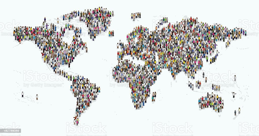 people of the earth vector art illustration