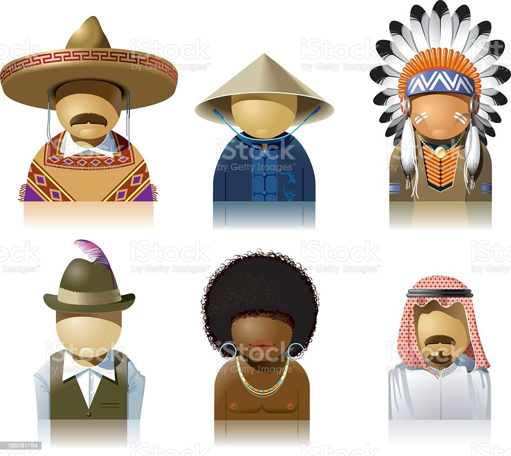 People of the World royalty-free stock vector art