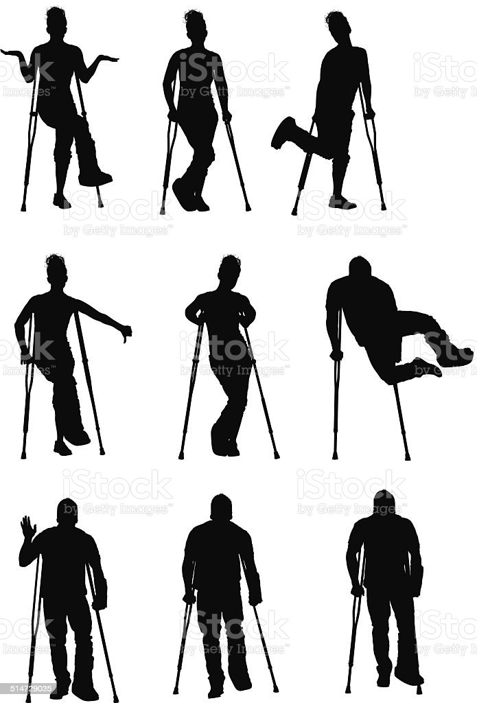 People on crunches vector art illustration