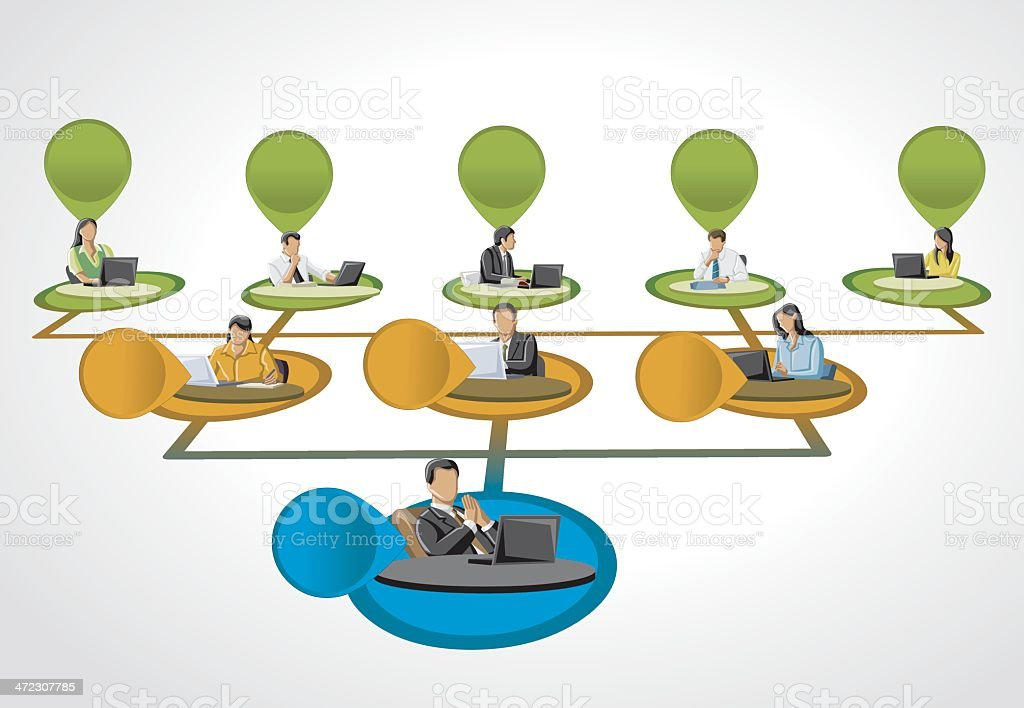people on hierarchy tree royalty-free stock vector art