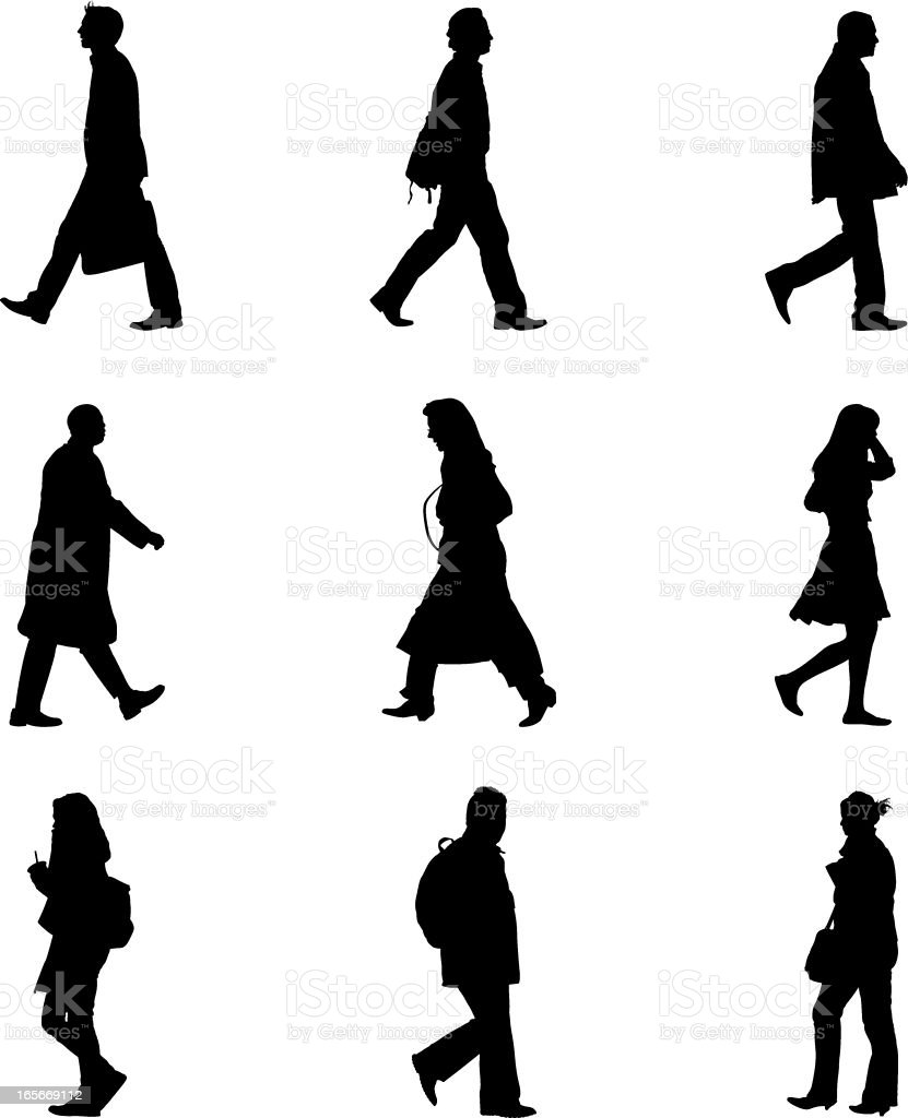 People on street royalty-free stock vector art