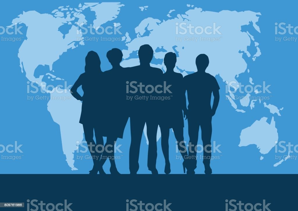 People on world map vector poster and background teamwork and people on world map vector poster and background teamwork and business concept royalty gumiabroncs Images