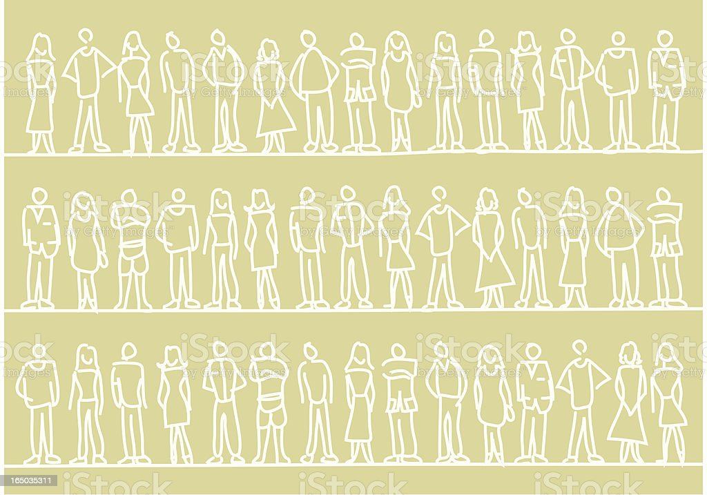 People Pattern vector art illustration