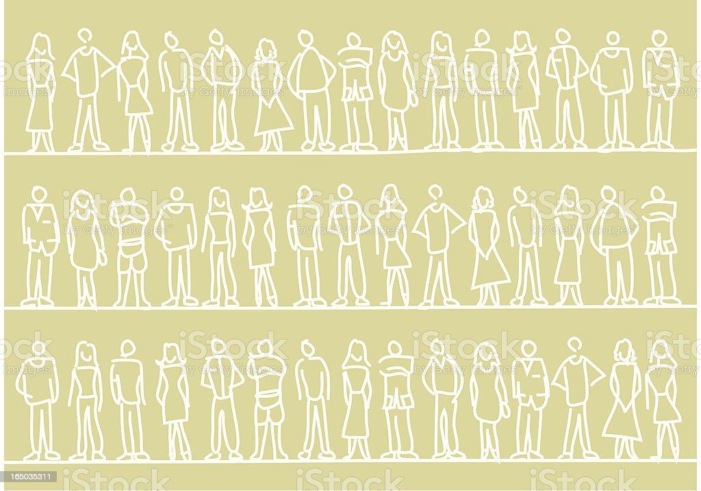 People Pattern vector art illustration