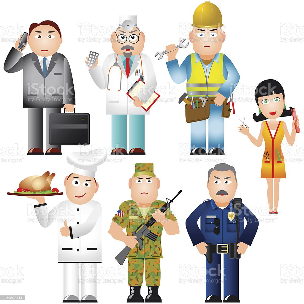 Set of People of various professions