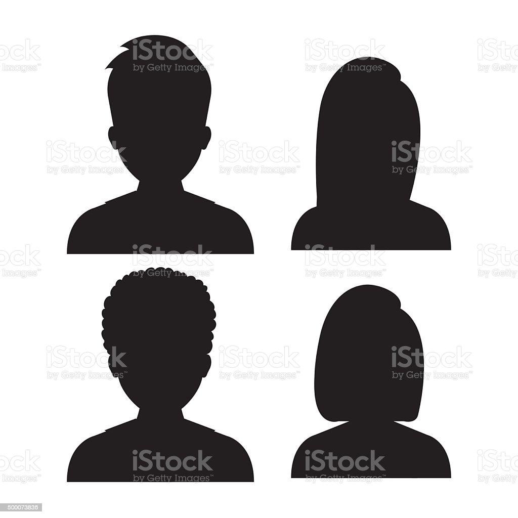 People profile graphic vector art illustration