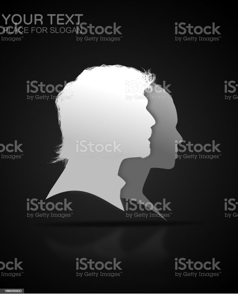 People Profile royalty-free stock vector art