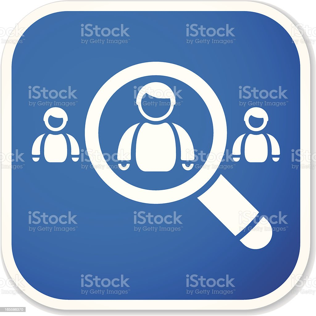people search sq sticker royalty-free stock vector art