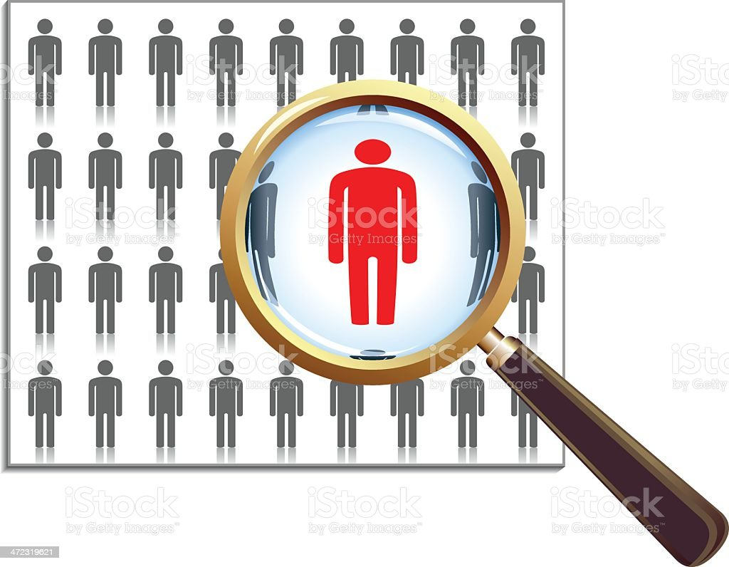 People Search royalty-free stock vector art