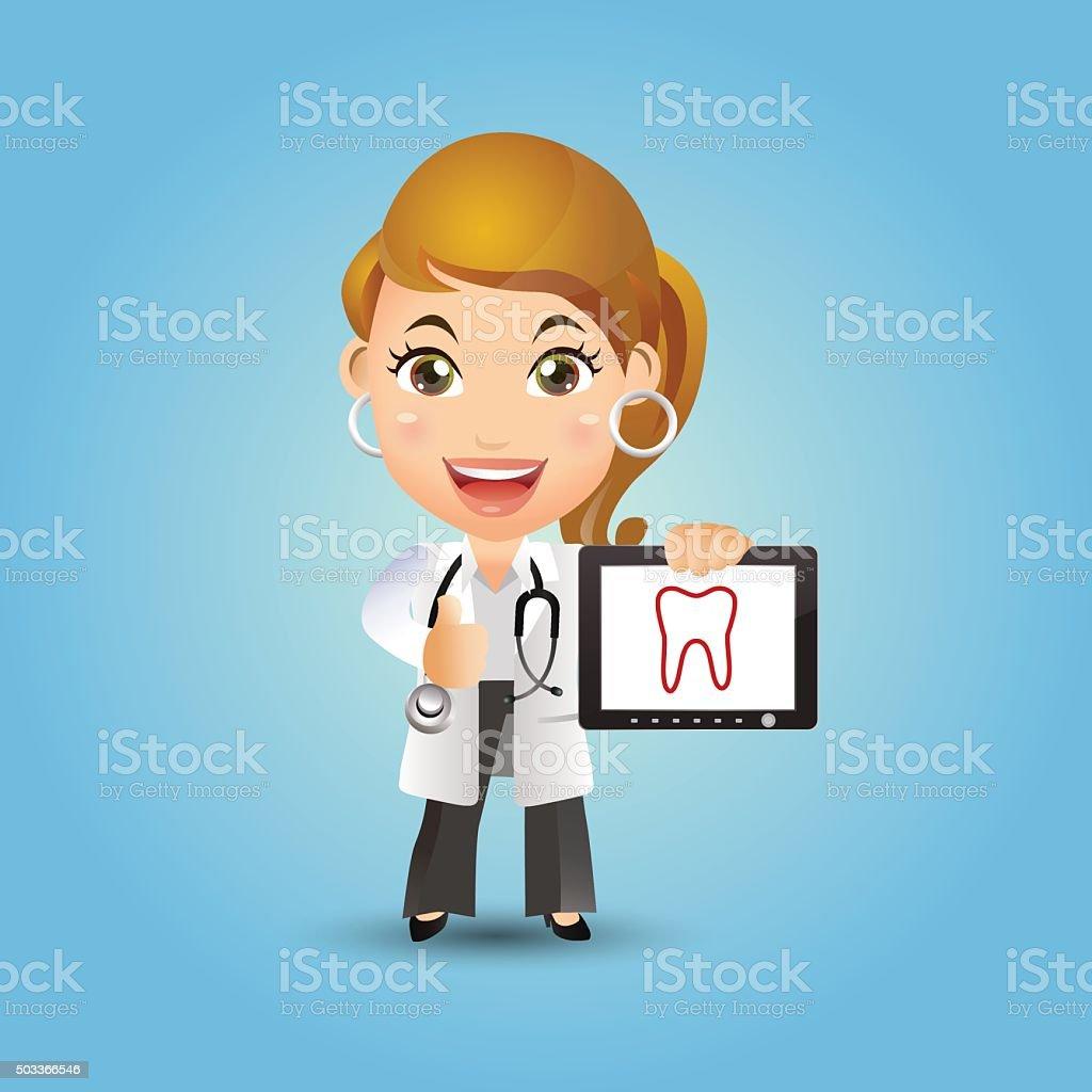 People Set - Profession - Doctor vector art illustration