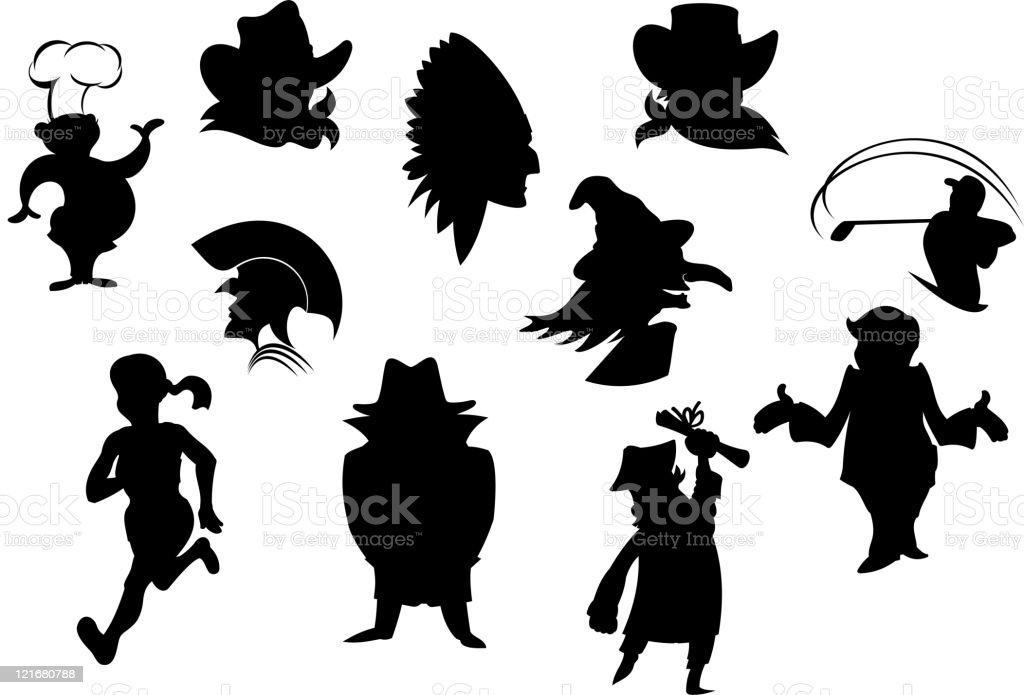 People silhouettes royalty-free stock vector art