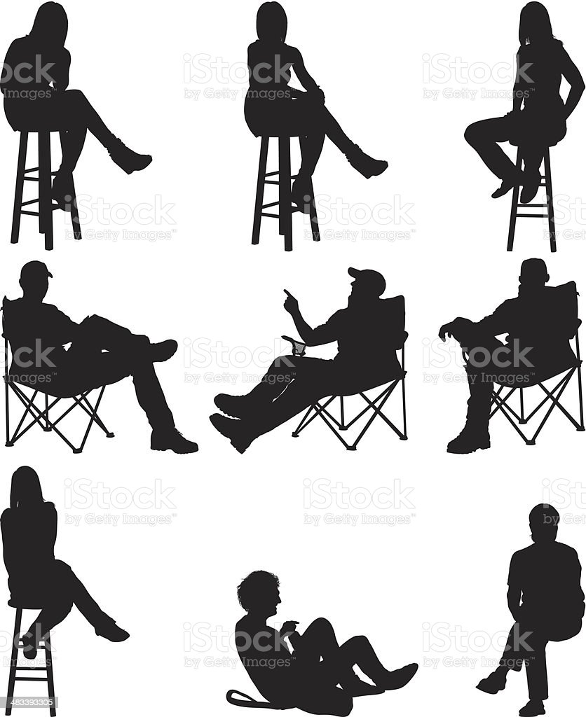 People sitting royalty-free stock vector art