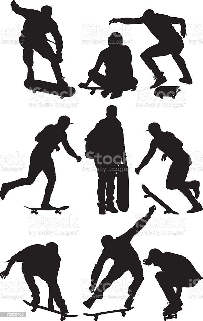 People skateboarding royalty-free stock vector art