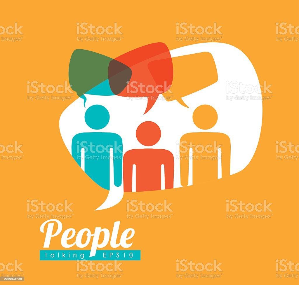 people speech vector art illustration