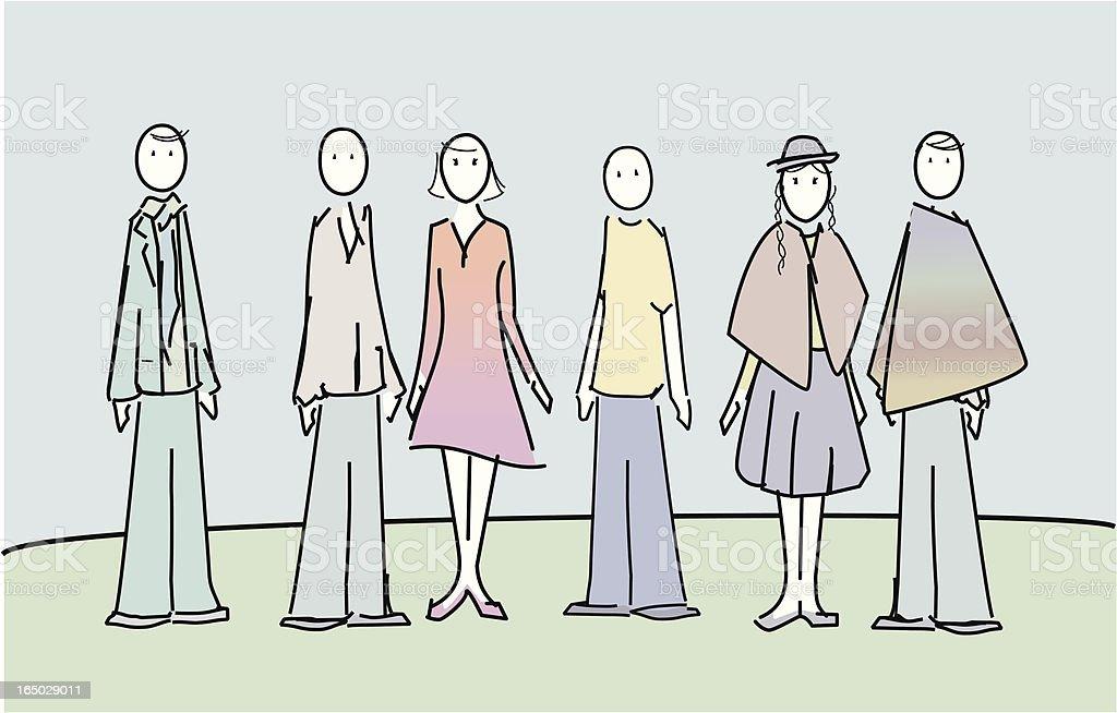 People standing royalty-free stock vector art