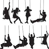 People swinging