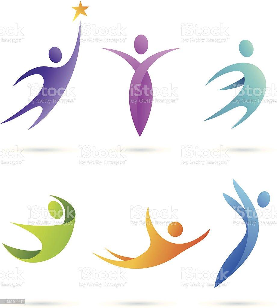 People   symbols set vector art illustration