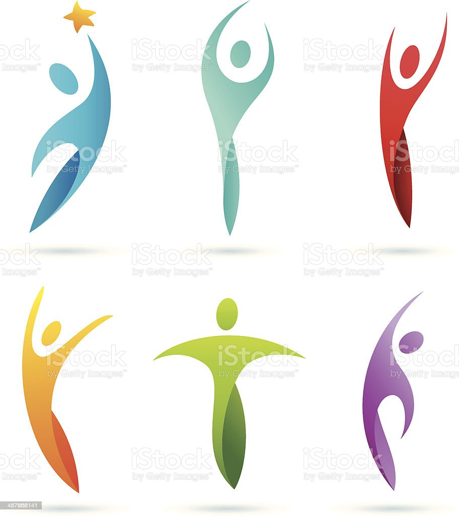 People | symbols vector art illustration