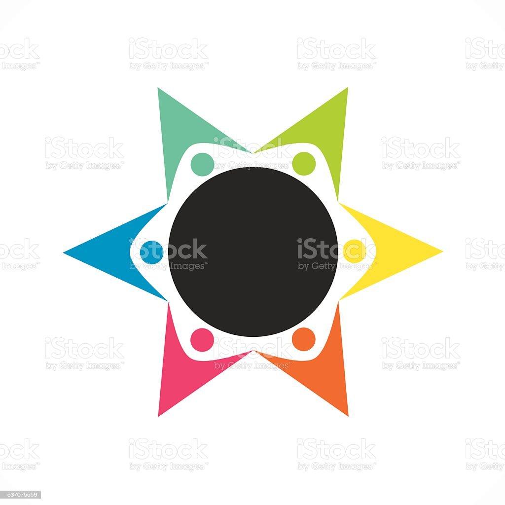 people teamwork icon design vector art illustration
