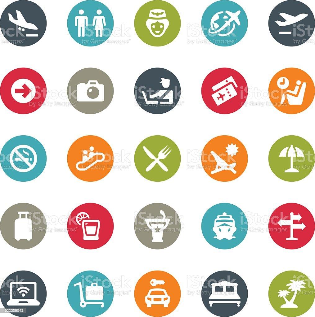 People Traveling icons / Ringico series vector art illustration
