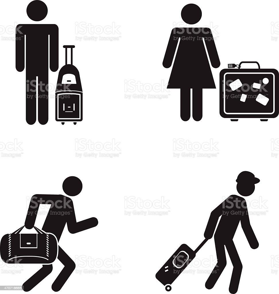 People traveling illustration vector art illustration