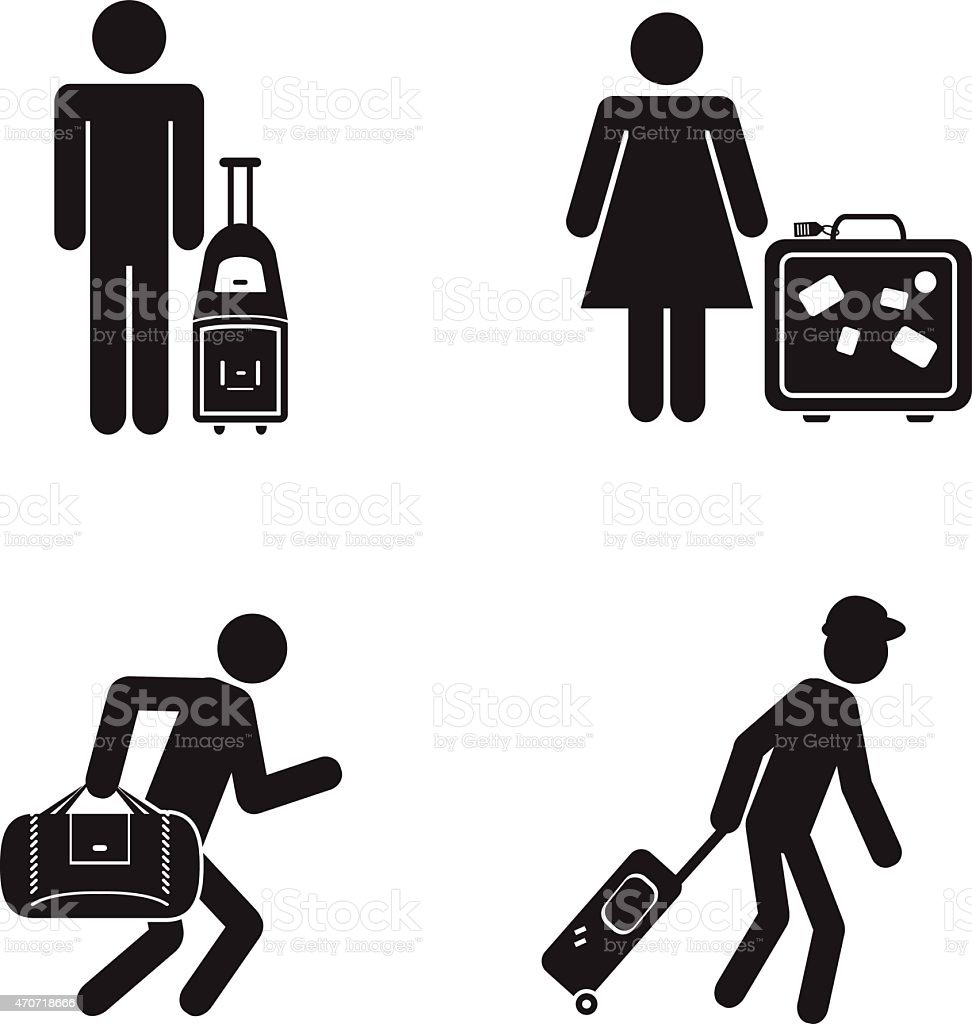 People traveling illustration vector art illustration