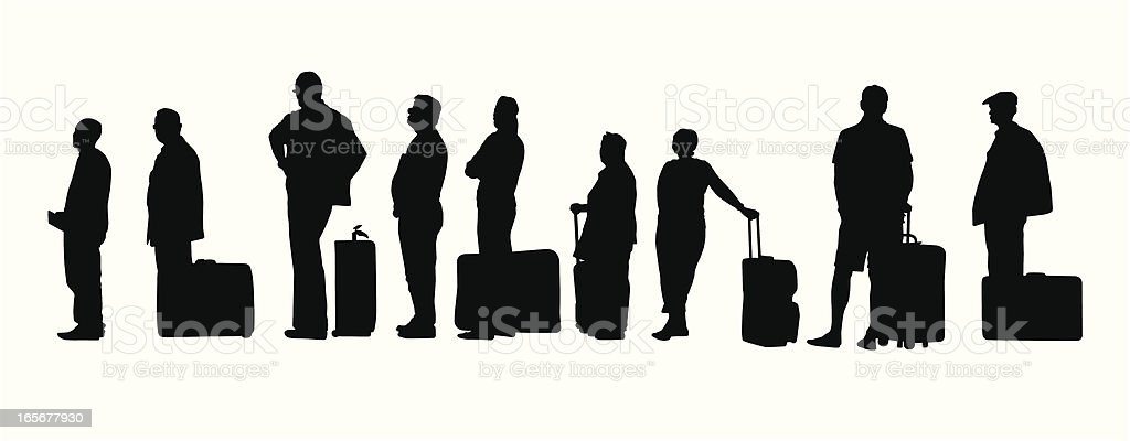 People Traveling vector art illustration