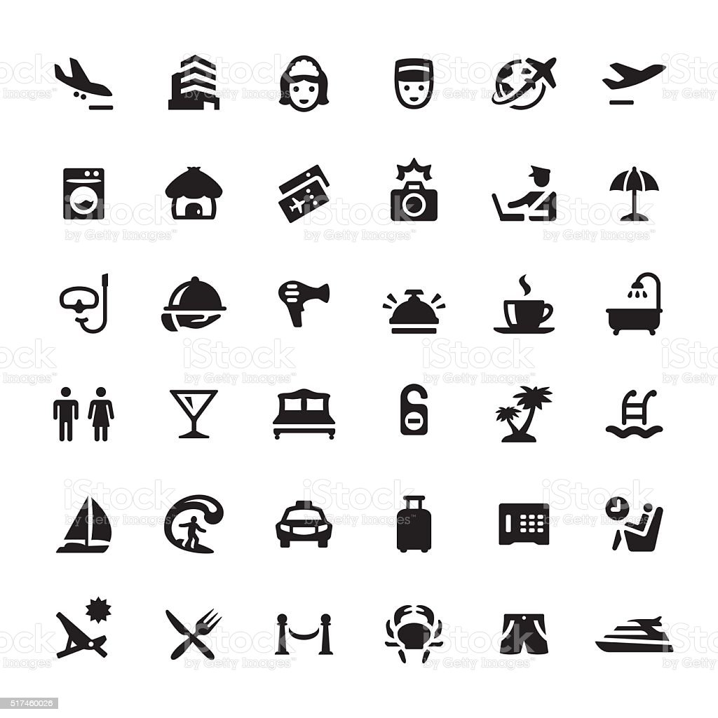 People Traveling vector symbols and icons vector art illustration