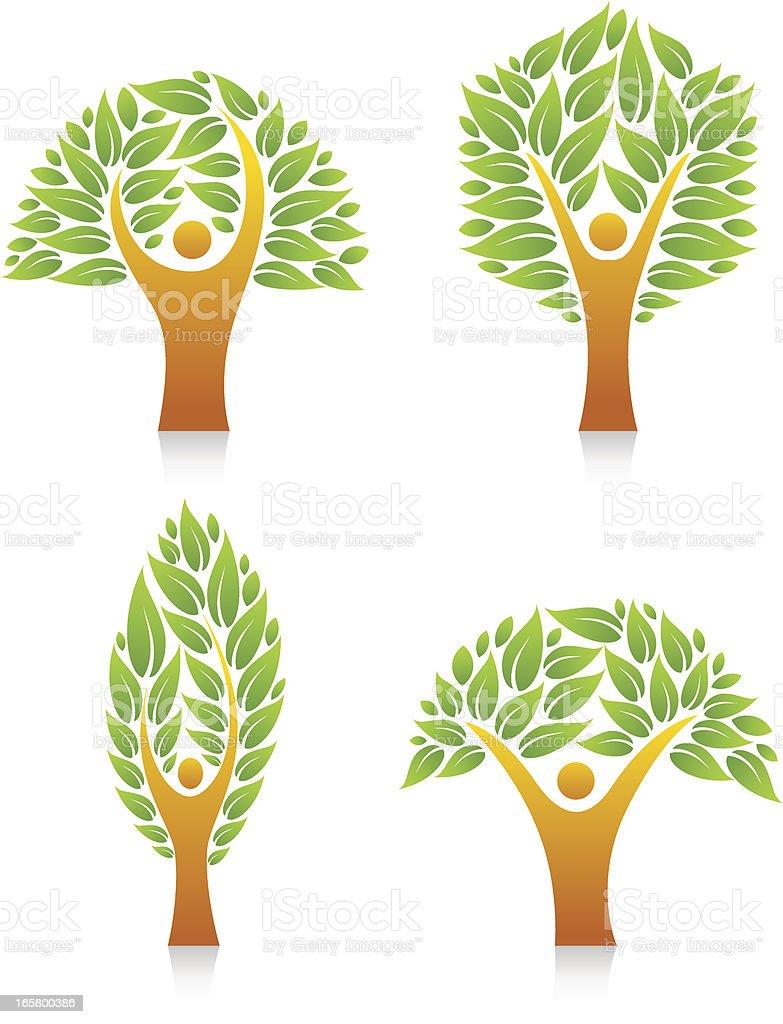 People Tree royalty-free stock vector art