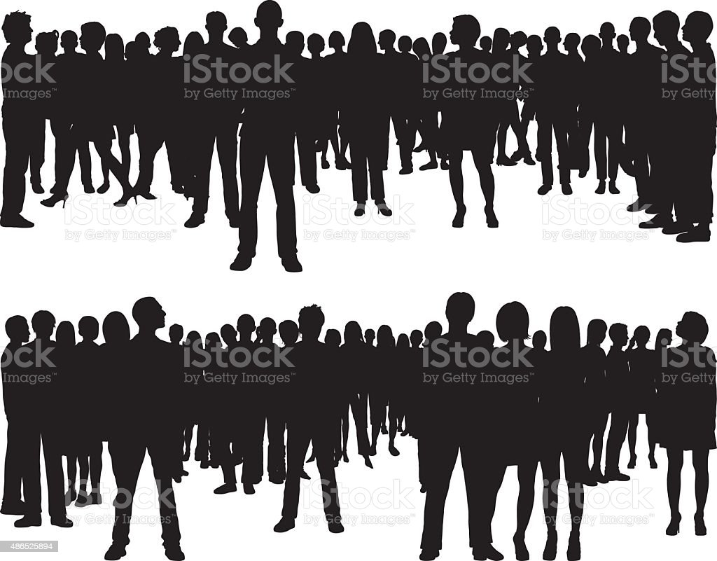 People (68 Complete, Moveable Silhouettes) vector art illustration