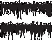People (68 Complete, Moveable Silhouettes)