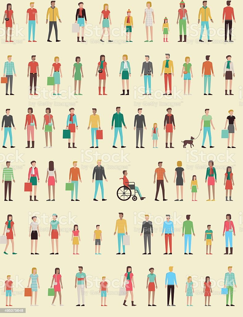 People vector art illustration