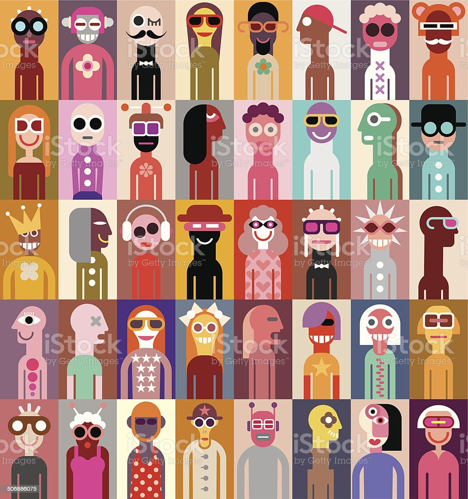 People vector illustration vector art illustration