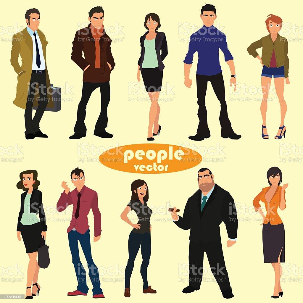 people vector vector art illustration