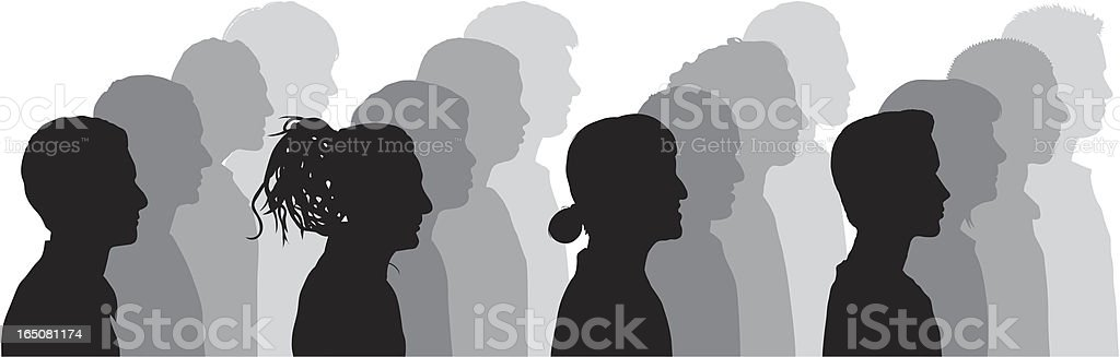 People Watching royalty-free stock vector art